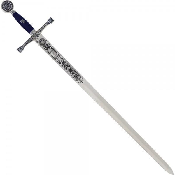 Marto Schwert Excalibur silber/blau