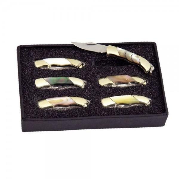Mini-Taschenmesser-Set 6 tlg.